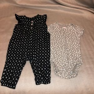 TWO Carter's onesies, 3mos.
